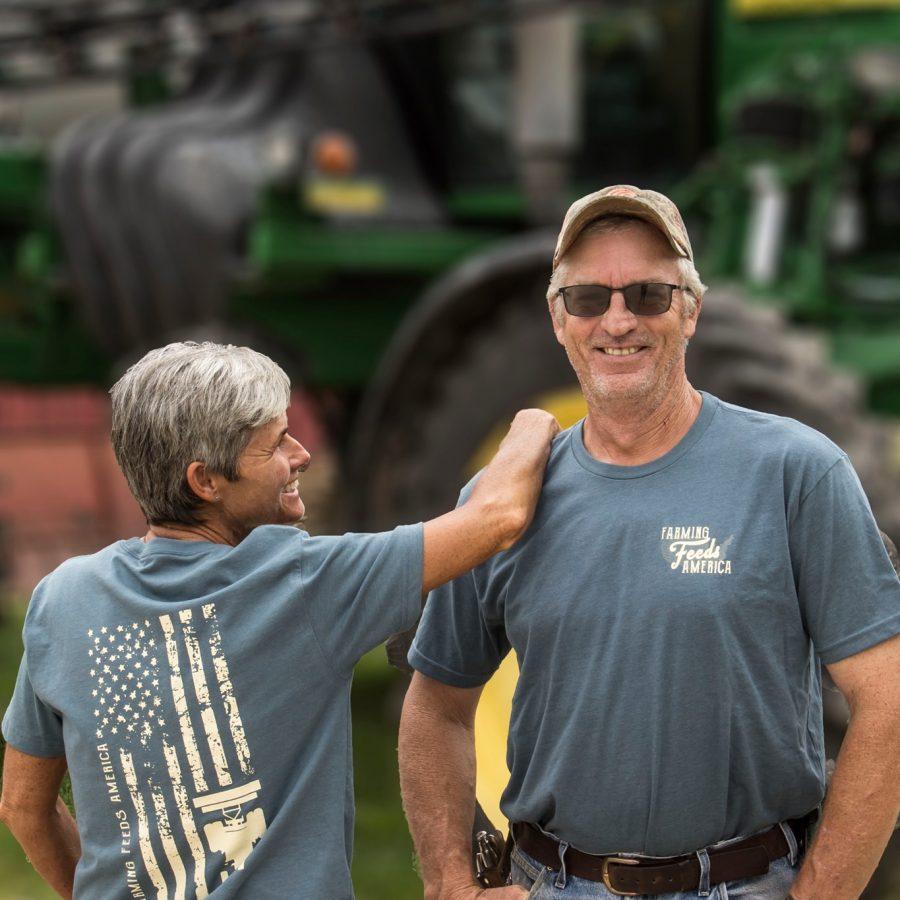 Farmers Feed America Flag
